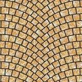Textura arqueada 058 del pavimento del guijarro Fotografía de archivo libre de regalías