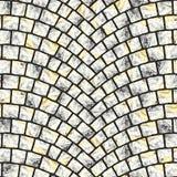 Textura arqueada 060 del pavimento del guijarro Fotos de archivo