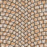 Textura arqueada 059 del pavimento del guijarro Imagenes de archivo