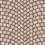 Textura arqueada 063 del pavimento del guijarro Fotografía de archivo
