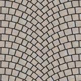 Textura arqueada 064 del pavimento del guijarro Foto de archivo