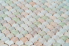 Textura arquitetónica de Mesh Detail With Fish Scales Imagem de Stock