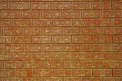 Textura artística do fundo do tijolo vermelho Imagens de Stock Royalty Free