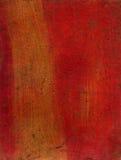 Textura artística dos media misturados - vermelho e ouro Imagens de Stock
