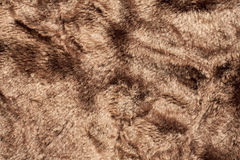 Textura artificial do fundo da pele do urso Fotografia de Stock