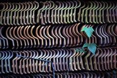 Textura artificial simétrica hecha con las tejas imagen de archivo