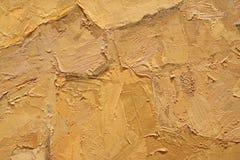 Textura ascendente cercana de la pintura al óleo con los movimientos del cepillo Imágenes de archivo libres de regalías
