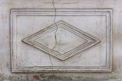 Textura ascendente de talla de piedra del cierre del viejo marco Imágenes de archivo libres de regalías