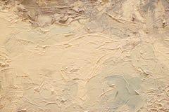 Textura ascendente próxima da pintura a óleo com cursos da escova Imagens de Stock