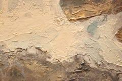 Textura ascendente próxima da pintura a óleo com cursos da escova Fotos de Stock