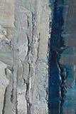 Textura ascendente próxima da pintura a óleo com cursos da escova Foto de Stock