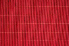 Textura asiática vermelha da esteira Fotos de Stock
