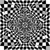 Textura assimétrica distorcida, deformada Tessellating áspero, nervoso ilustração do vetor