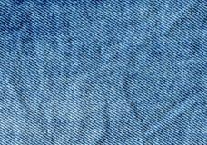 Textura azul abstracta del dril de algodón Fondo de la mezclilla azul imágenes de archivo libres de regalías