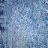 Textura azul abstracta del dril de algodón Fondo de la mezclilla azul Foto de archivo