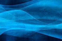 Textura azul abstracta del fondo, de la onda y del vevlet Foto de archivo