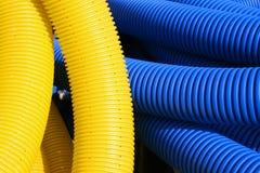 Textura azul amarela Imagens de Stock Royalty Free
