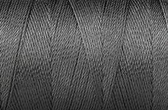 Textura azul ascendente cercana del hilo del fondo fotografía de archivo