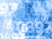 Textura azul clara del fondo de los números Foto de archivo libre de regalías
