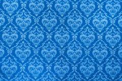 Textura azul da chita Fotos de Stock Royalty Free