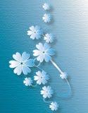 Textura azul da flor Imagens de Stock Royalty Free