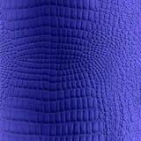 Textura azul da imitação do couro do réptil Imagem de Stock Royalty Free