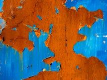 Textura azul da oxidação imagens de stock