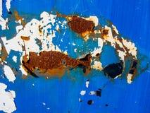 Textura azul da oxidação imagem de stock