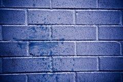 Textura azul da parede de tijolo Fotografia de Stock