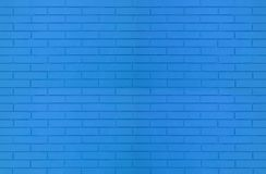 Textura azul da parede de tijolo da cor para imagens de fundo gráficas foto de stock