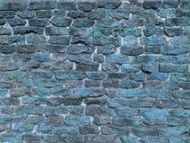 Textura azul da parede de tijolo de Grunge Foto de Stock Royalty Free