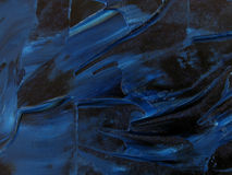 Textura azul da pintura de petróleo Foto de Stock Royalty Free