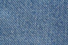 Textura azul da sarja de Nimes Imagens de Stock