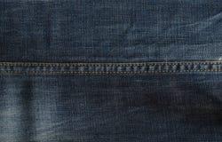 Textura azul da tela da sarja de Nimes Fotografia de Stock