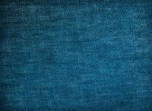 Textura azul da tela da sarja de Nimes para o fundo Imagem de Stock Royalty Free
