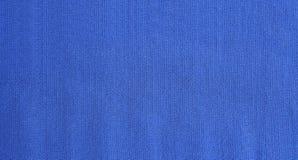 Textura azul da tela de Jersey como o backround Fotografia de Stock