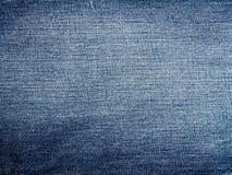 Textura azul das calças de brim da sarja de Nimes Fotografia de Stock Royalty Free
