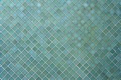 Textura azul das telhas de mosaico com enchimento branco Fotografia de Stock