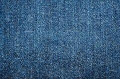Textura azul de brim Fotos de Stock
