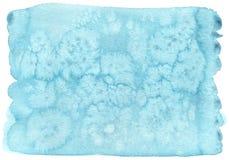 Textura azul de la acuarela con el fondo del Libro Blanco ilustración del vector