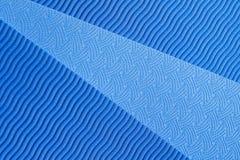 Textura azul de la estera de la yoga Imagen de archivo libre de regalías