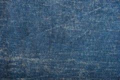Textura azul de la mezclilla del dril de algodón y fondo inconsútil fotografía de archivo libre de regalías