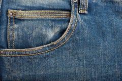 Textura azul de la mezclilla del dril de algodón y fondo inconsútil fotos de archivo