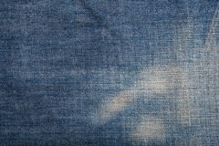 Textura azul de la mezclilla del dril de algodón y fondo inconsútil fotografía de archivo