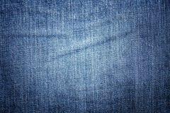 Textura azul de la mezclilla del dril de algod?n para el fondo foto de archivo