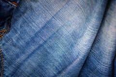 Textura azul de la mezclilla del dril de algod?n para el fondo fotos de archivo