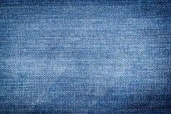 Textura azul de la mezclilla del dril de algodón Fotografía de archivo libre de regalías