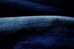 Textura azul de la mezclilla del dril de algodón Imágenes de archivo libres de regalías
