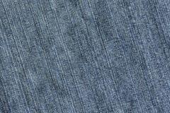 Textura azul de la mezclilla del dril de algodón para el fondo Imágenes de archivo libres de regalías