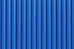 Textura azul de la pared de apartadero del metal Fotos de archivo